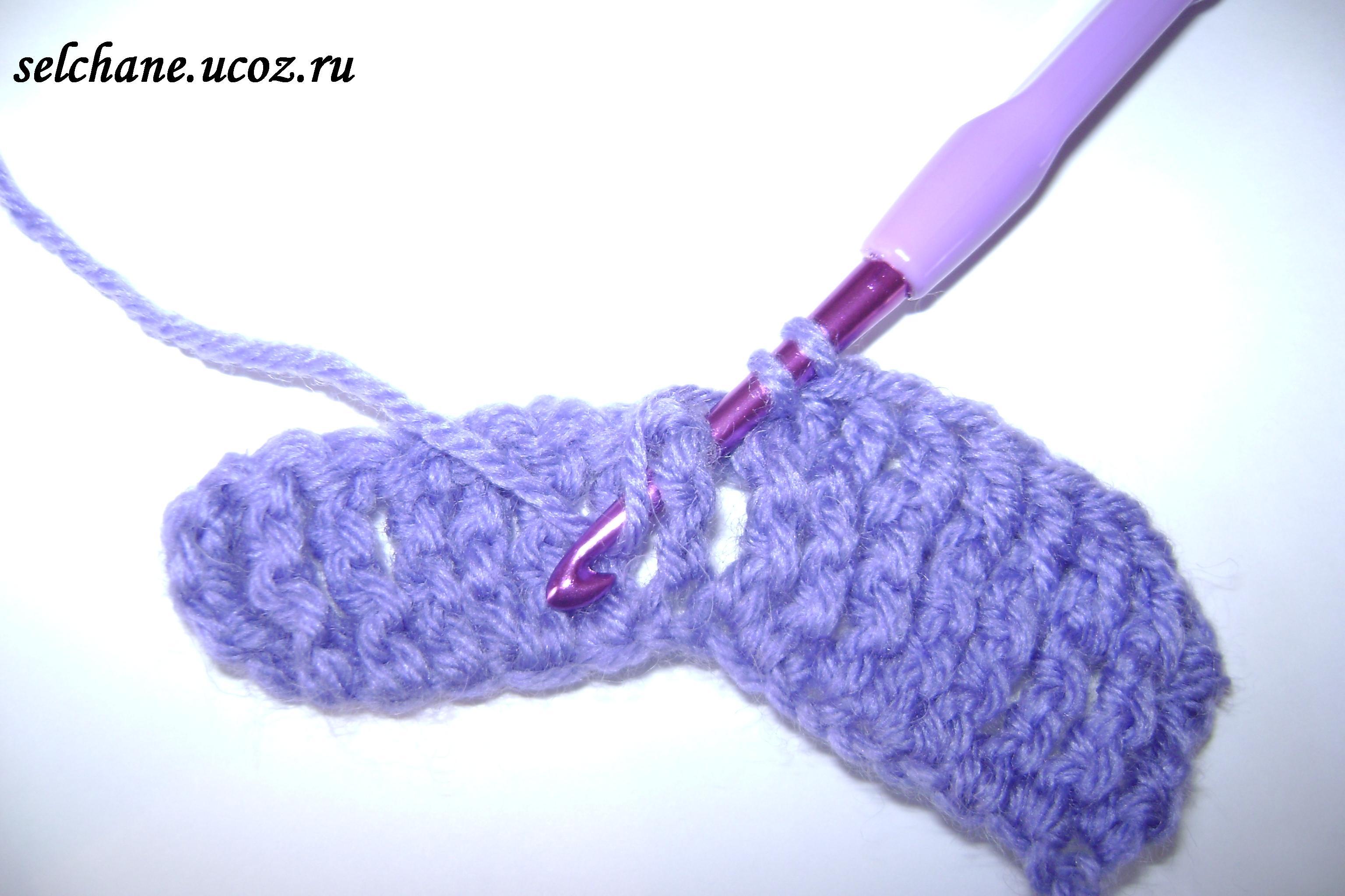 Как вязать крючком круг столбиками с накидом - Уроки вязания