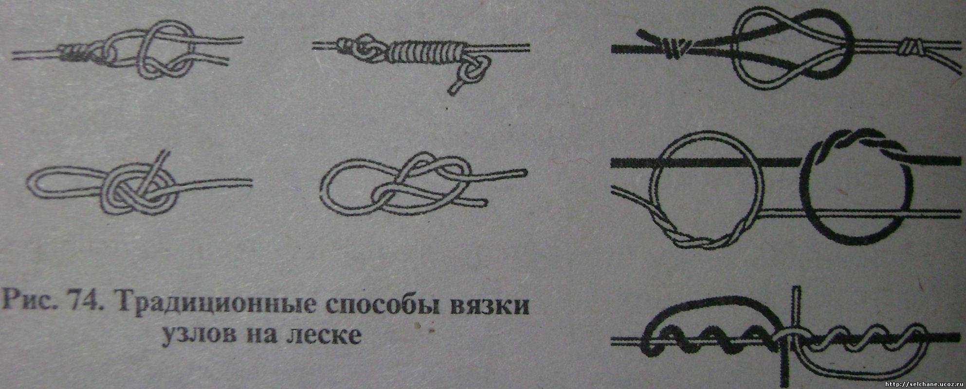 Рыболовные узлы для крючков и поводков, способы соединения 12